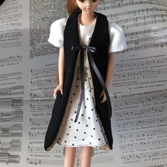 ドール服、初心者でも自作でロングベスト(ジレ)の作り方