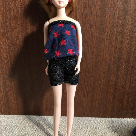 ドール服、チューブトップスは歌姫の衣装を参考に作ってみました