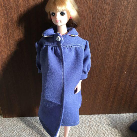 ドール服HANON本、表紙のコートの作り方