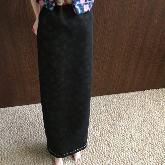 ドール服、異素材で作るダブル仕立てロングスカートの作り方