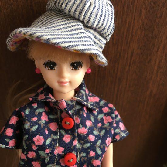 ドールに大きめのツバがおしゃれな帽子「キャプリン」の作り方