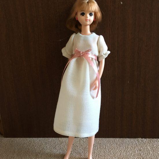 ドール服、簡単でかわいいナイトドレスの作り方