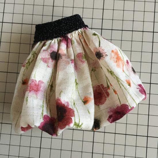 ドール服、初心者におすすめふわりとかわいい、バルーンスカートの作り方