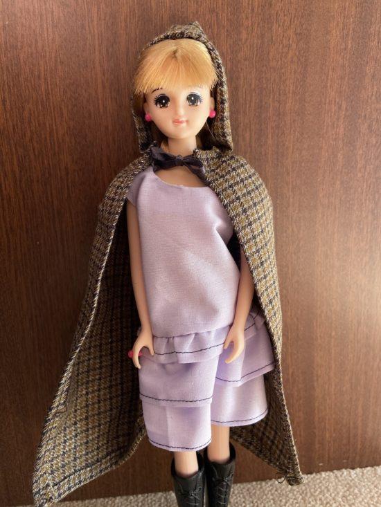 ドール服、ドレスに合うロングマントの作り方