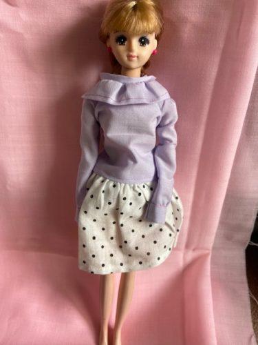 ドール服、ピエロ風な襟フリルがキュートブラウスの作り方