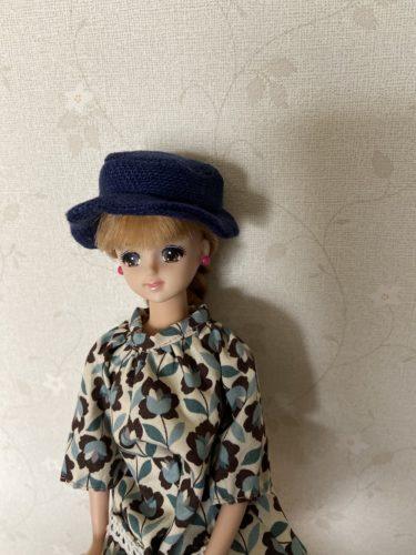 HANON本を参考に、ドール服に合わせたいリネンで作る帽子