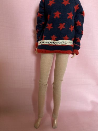 ジェニーサイズにぴったり服、ニット生地で作るレギンスの作り方