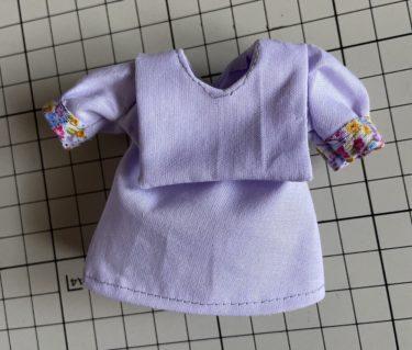 ドール服、セーラー服タイプの衿がかわいいトップスの作り方
