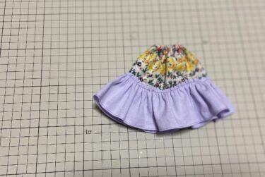 ドール服、HANON本を参考に違いで作りたいギャザースカートの作り方