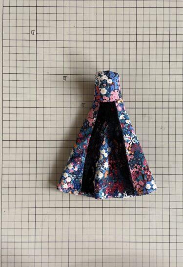 ドール服、簡単にできるアンティークなビスチェドレスの作り方