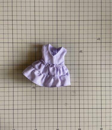 ドール服、簡単!ダブルフリル・ノースリーブカットソーの作り方